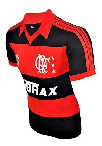 camisa retrô flamengo lubrax - bordada - 100% algodão !