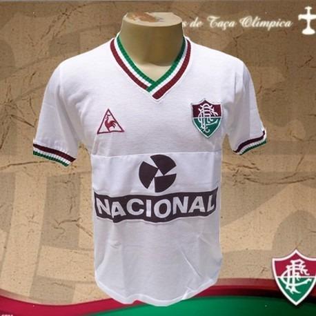 Camisa Retrô Fluminense Branca Banco Nacional -1984 - R  120 fc5878d968826