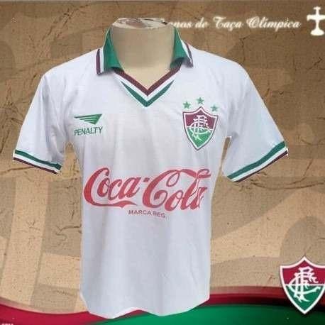Camisa Retrô Fluminense Branca Eg  32d497943ffec