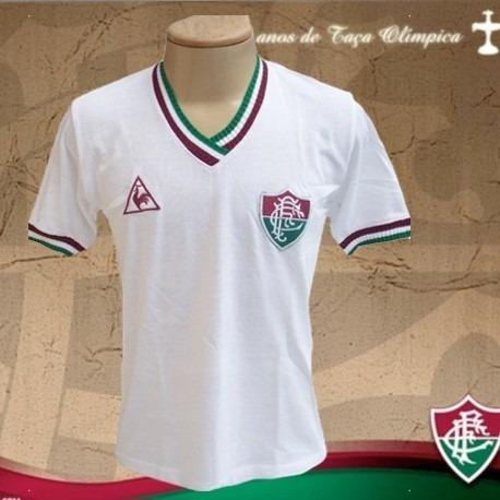 Camisa Retrô Fluminense Branca Le Coq Sportif - R  89 e2abab88c5f39