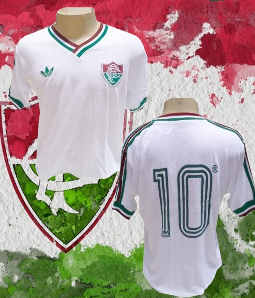 Camisa Retrô Fluminense Branca Logo - Eg  23de45c9caa16