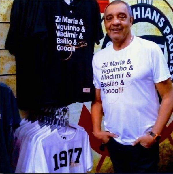 Camisa Retrô Gol Basílio 1977 Branca Torcedor - R  49 7f13600fd24d2