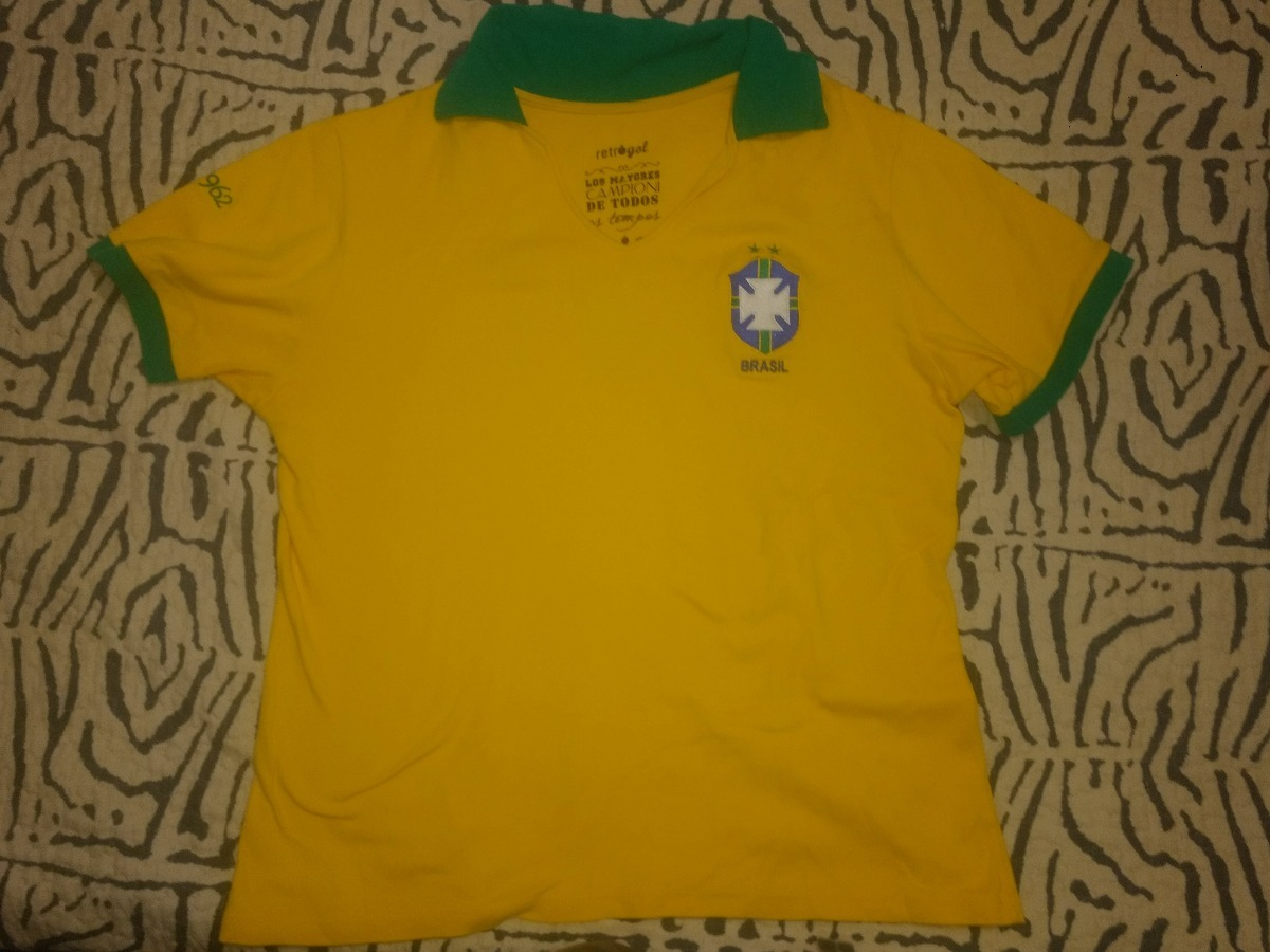 camisa retrô gol brasil 1962 amarela tamanho g. Carregando zoom. 474f2ff035644
