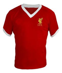 130b1ff2c8 Camisa Retro Liverpool Tamanho P - Camisetas Masculino Manga Curta P  Vermelho no Mercado Livre Brasil