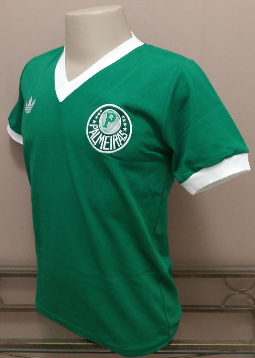 06135543fa410 Camisa Retrô Palmeiras 1983-1984 - Manto Sagrado Retrô - R  78