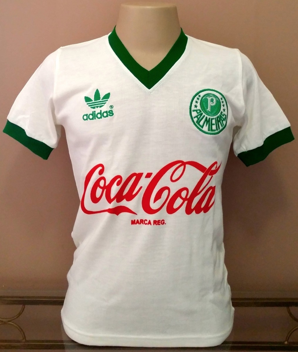 8a3669d90c Camisa Retrô Palmeiras 1988-1990 - Branca - 100% Algodão ! - R  58 ...