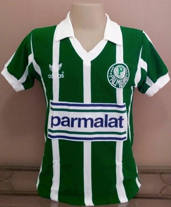 Camisa Retrô Palmeiras 1992 Parmalat - Manto Sagrado Retrô - R  98 ... 3a10eb3e998b4