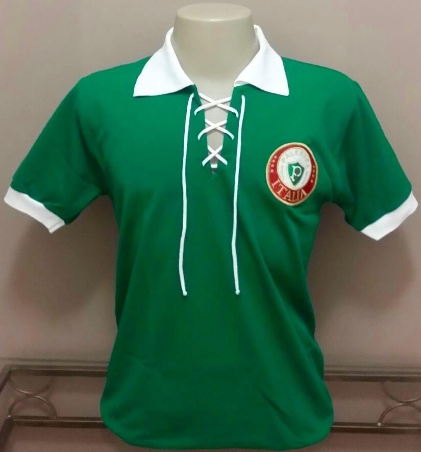 camisa retrô palmeiras palestra itália - cordinha - bordada! Carregando zoom . 860148508eef2