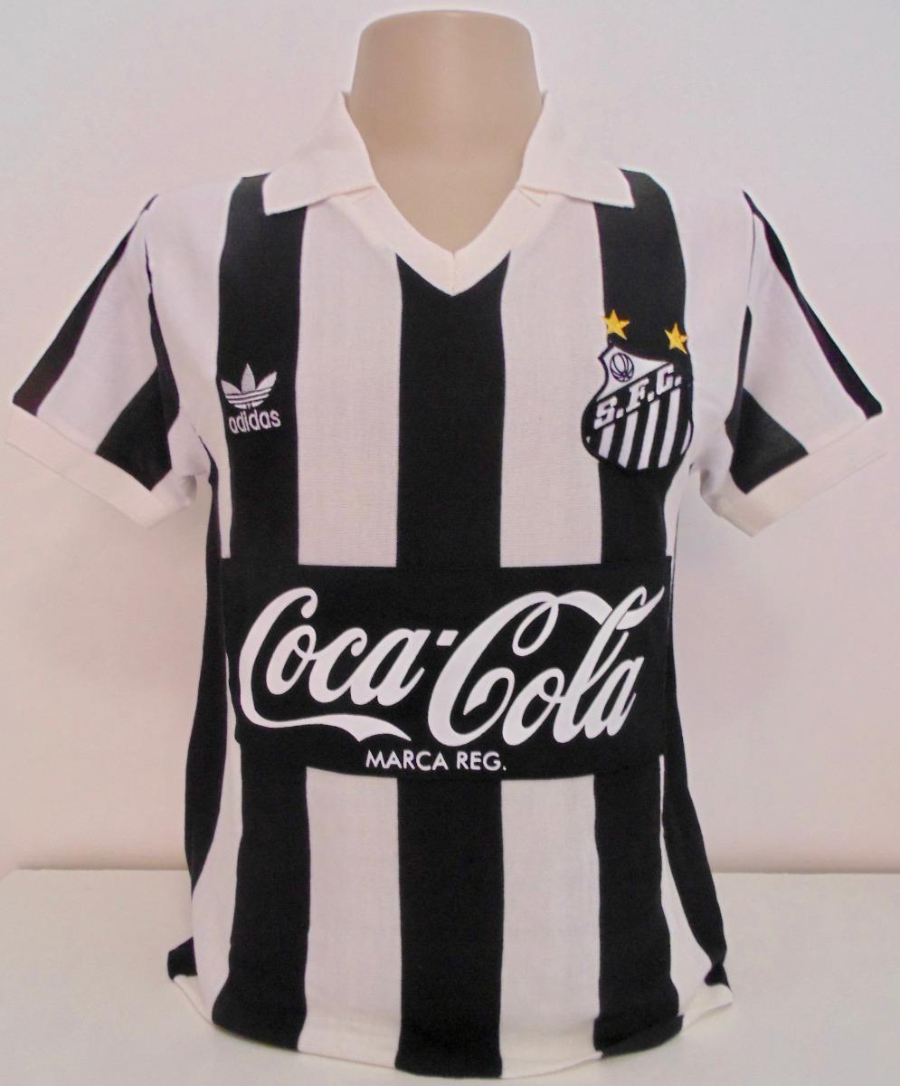 9adefd83f2 Camisa Retrô Santos Anos 80 Coca P R O N T A . E N T R E G A - R ...