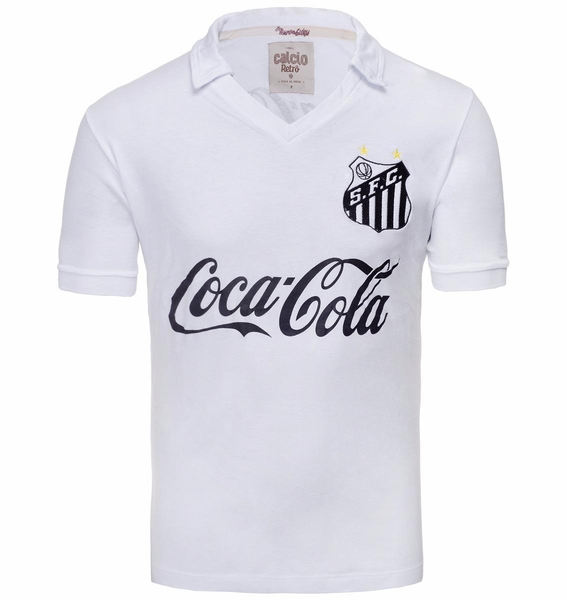 01dd73a76c camisa retrô - santos branca coca cola. Carregando zoom.