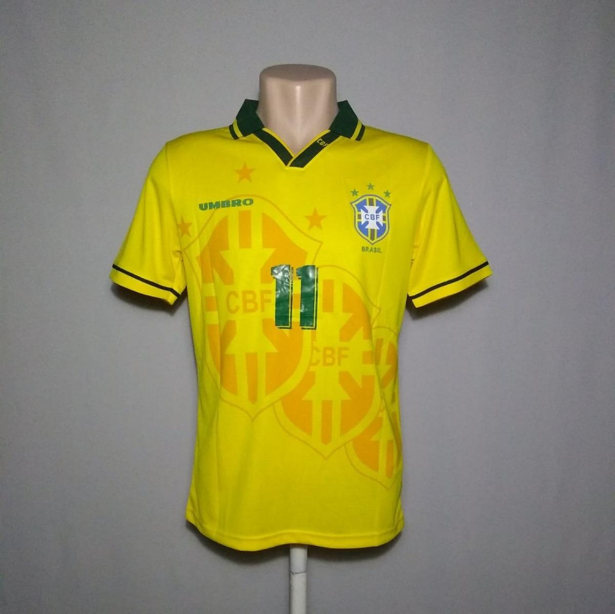 camisa retrô -seleção brasil 1994- romário - pronta entrega. Carregando  zoom. 141f1acf35fe1