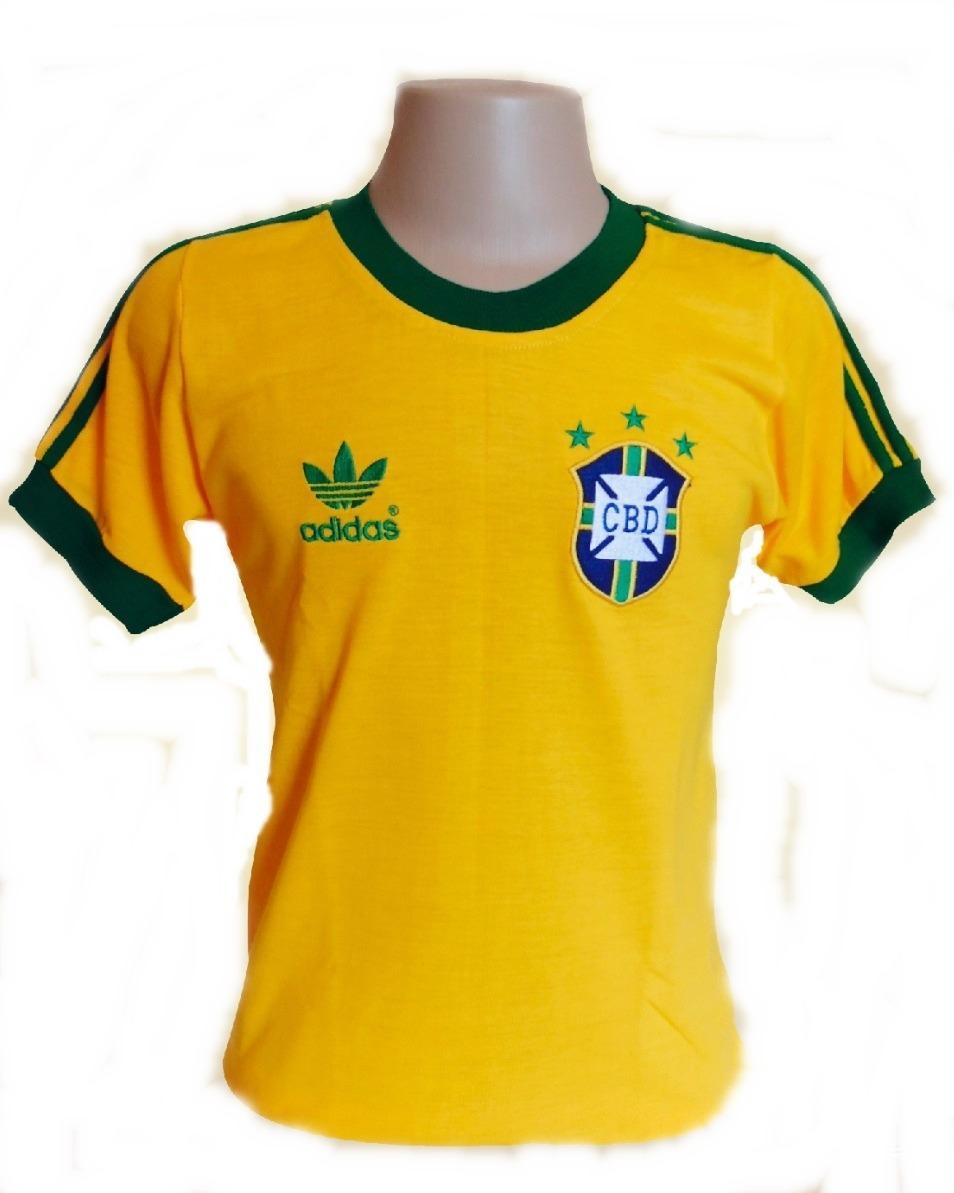f48f4845c91a6 Camisa Retrô Seleção Brasileira Copa Do Mundo 1978 Promoção - R  120 ...