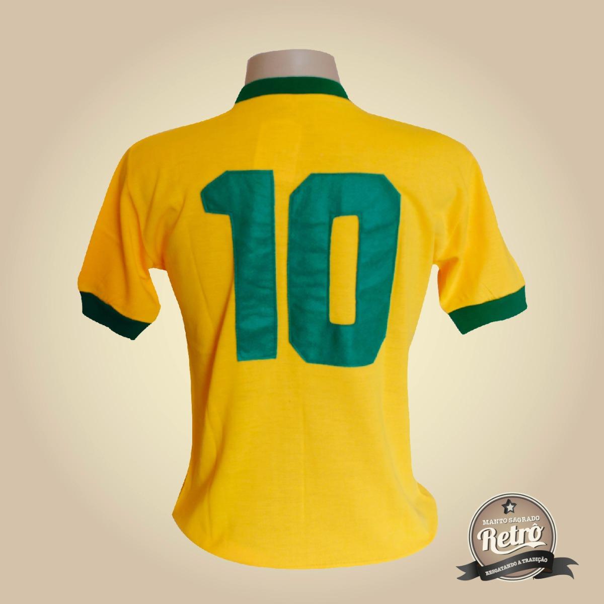 c9dd6f35a5 camisa retrô seleção brasileira de 1970 - tecido retrô ! ! ! Carregando zoom .
