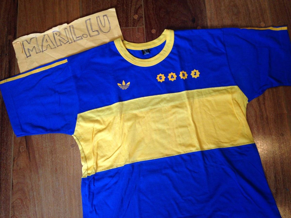 best service 47d2c 6542c Camisa Retro Boca Juniors 1981 Argentina Jrs Maradona