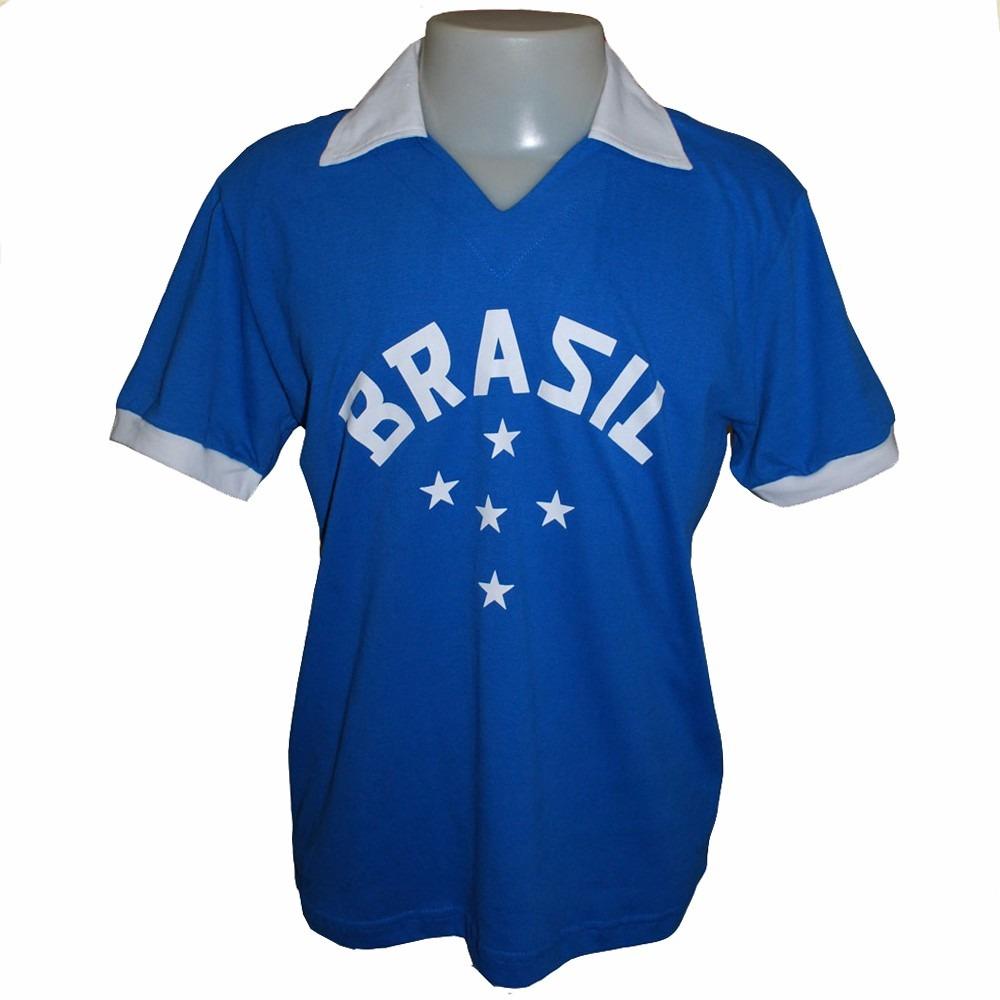 819a762938 camisa retro brasil 1952 olimpiadas azul seleção 52. Carregando zoom.