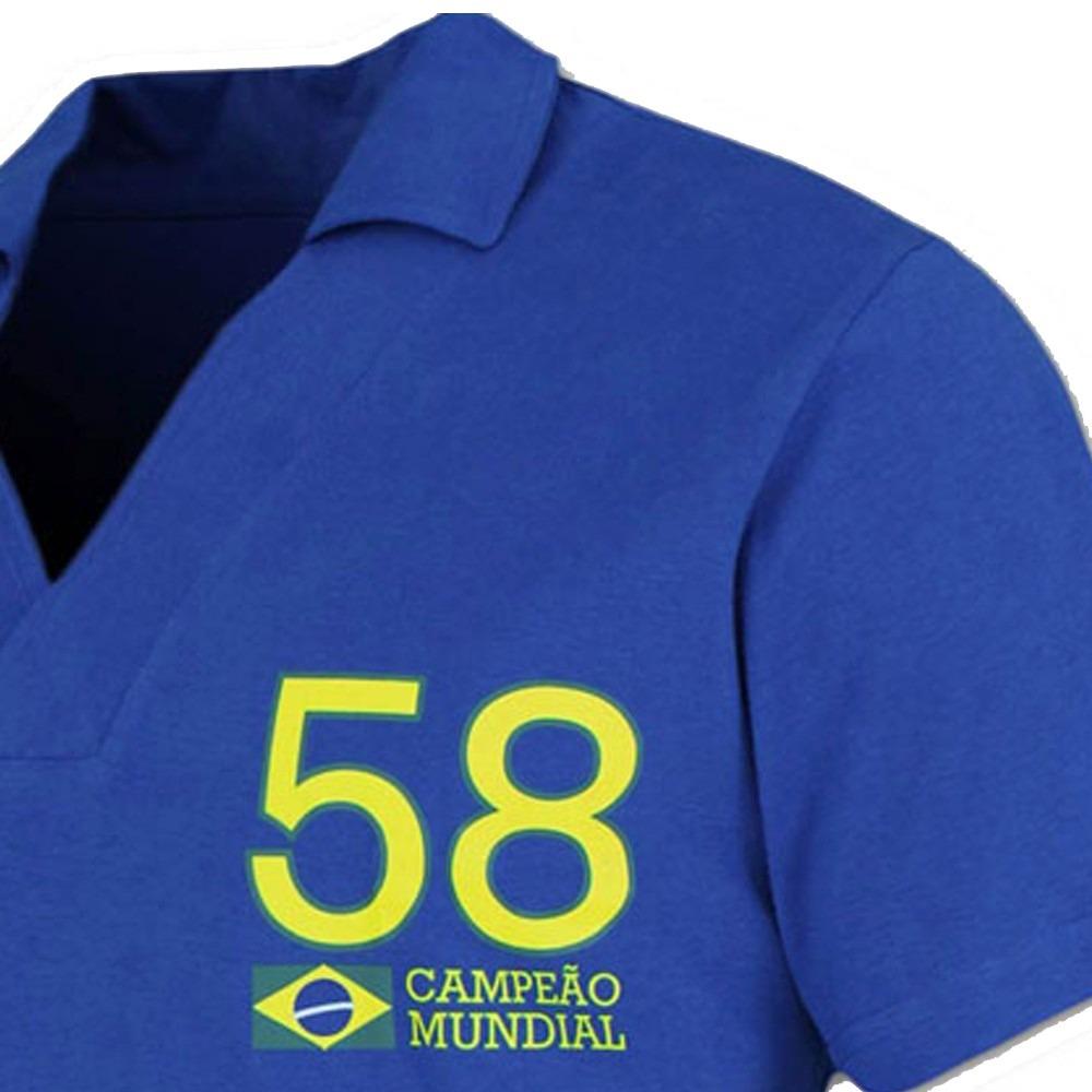 4483d83881 camisa retro brasil 1958 alusiva copa 58 ligaretro. Carregando zoom.