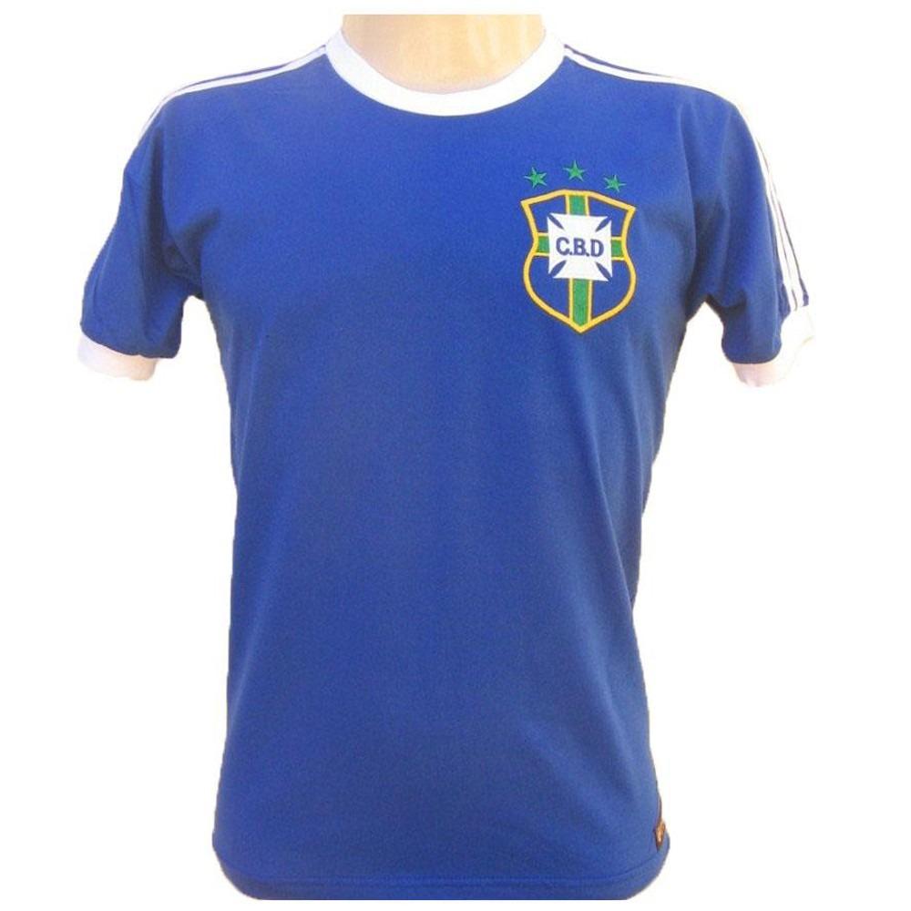 5b8d5b1c7b camisa retro brasil 1978 azul  10  seleção brasileira. Carregando zoom.