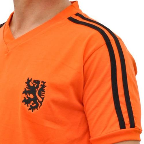 Camisa Retro Da Holanda De1974 Laranja Mecânica Retromania - R  89 ... 6792af67d09c8