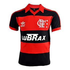 Camisa Retrô Flamengo Anos 1988-92 Lubrax Bordada - 100% Algodão - M A N T O . S A G R A D O . R E T R Ô - 50% O F F !