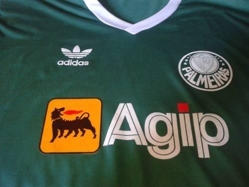camisa retro palmeiras 1987/1988 agip verde