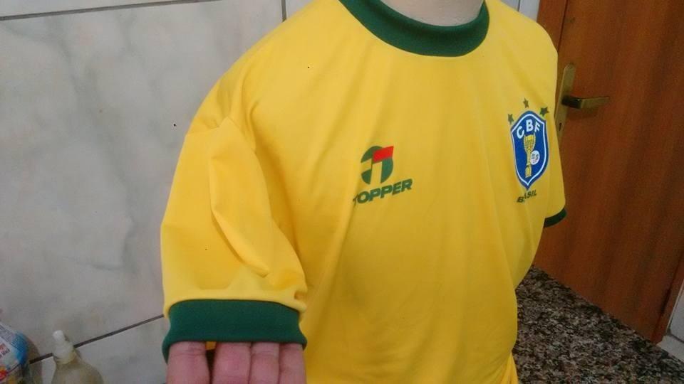 3c6fcefa82 camisa retro seleção brasileira copa de 82 zico. Carregando zoom.