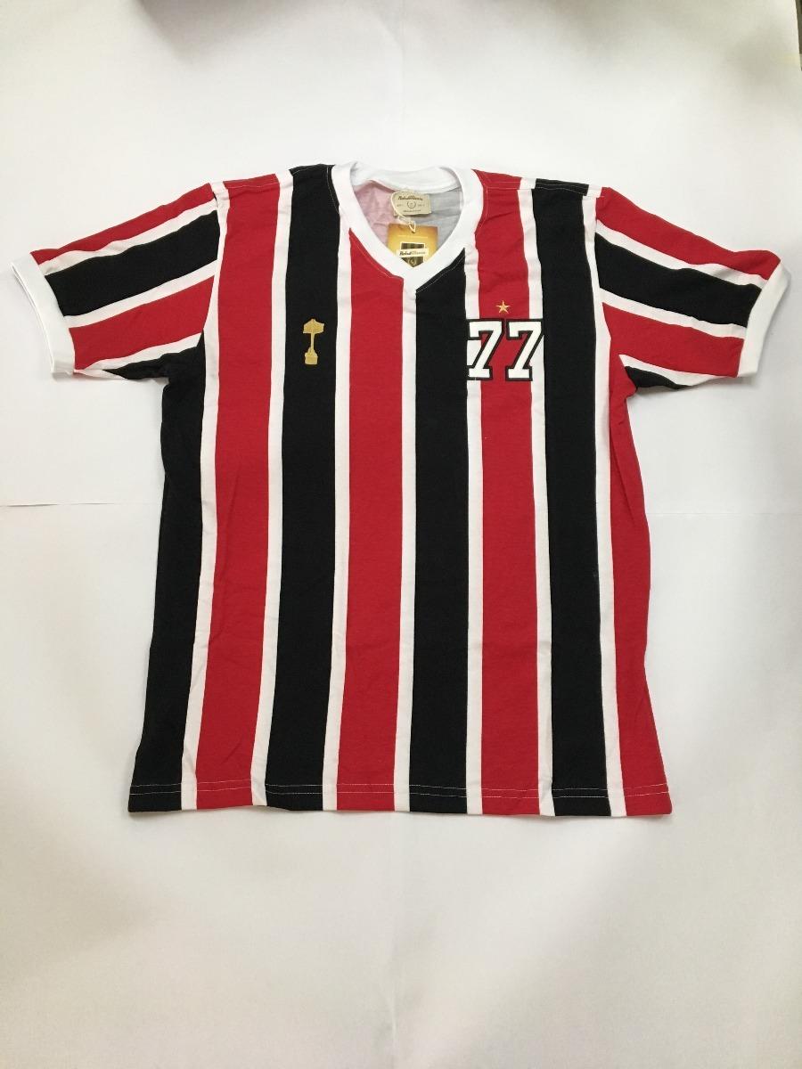 camisa retro tricolor paulista 1977. Carregando zoom. 9666c1aa928cb