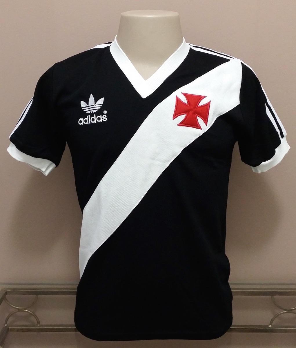 08943fb8b2d36 Camisa Retro Vasco 1984 Preta - Manto Sagrado Retrô - R  98