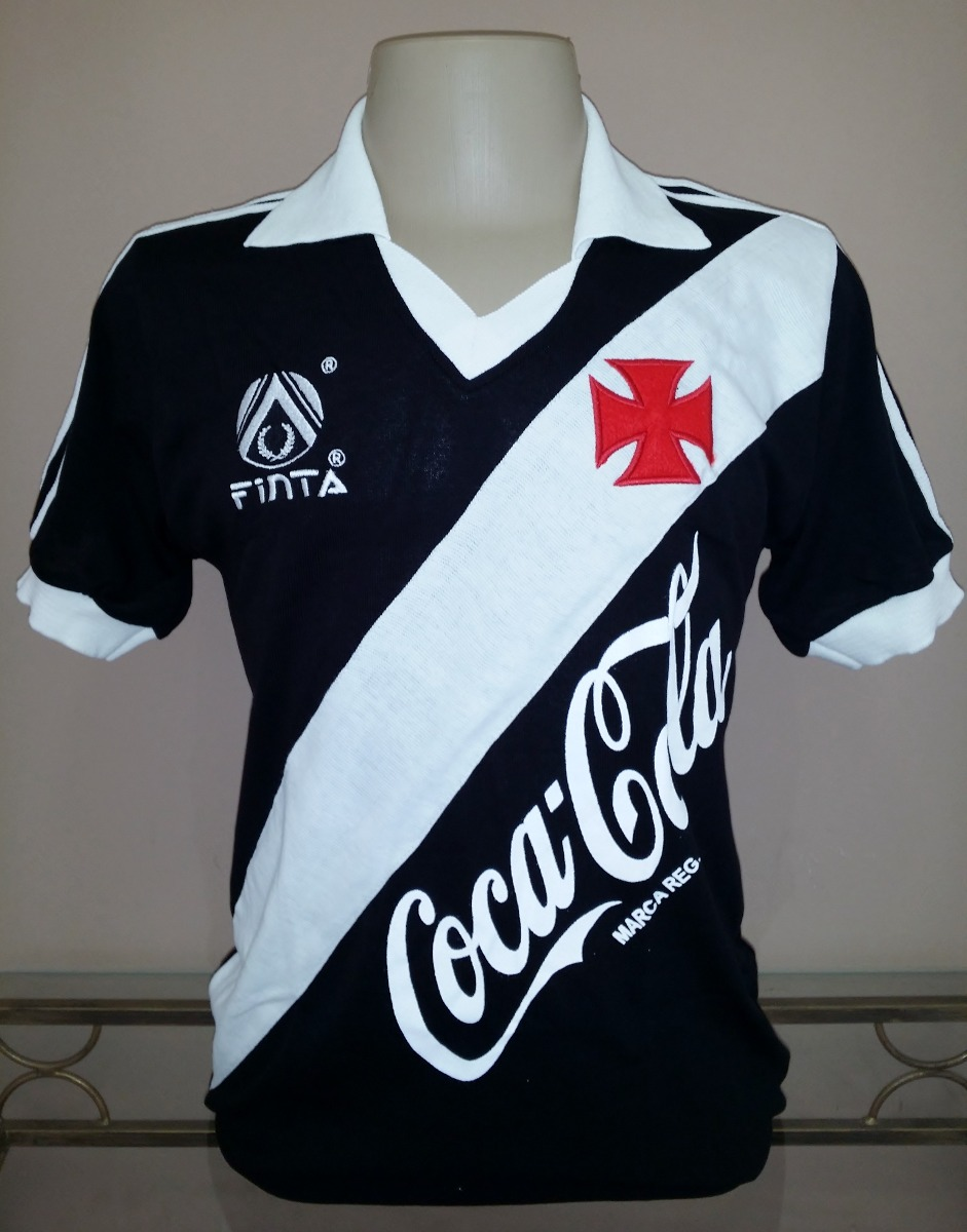 9fe5381593 Camisa Retro Vasco 1989 1991 Preta - Manto Sagrado Retrô - R  108