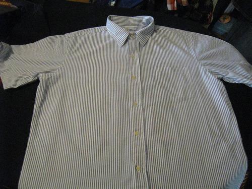 camisa reyn spooner talla l manga corta