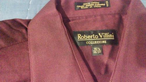 camisa roberto villini collezione italy 16 1/2-36-37