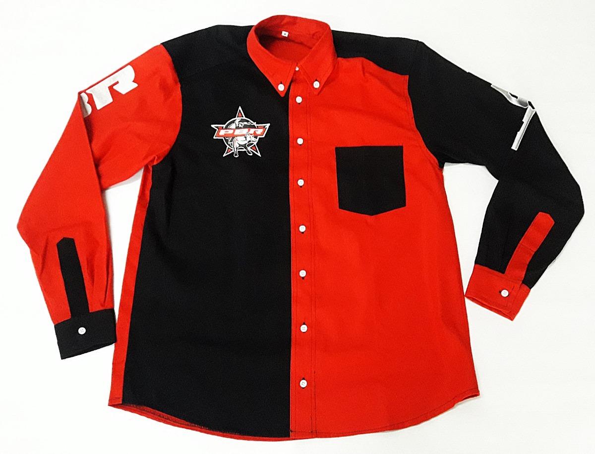 camisa rodeio country masculina vermelha preta festa pbr ml. Carregando zoom . 683cc67c7b4