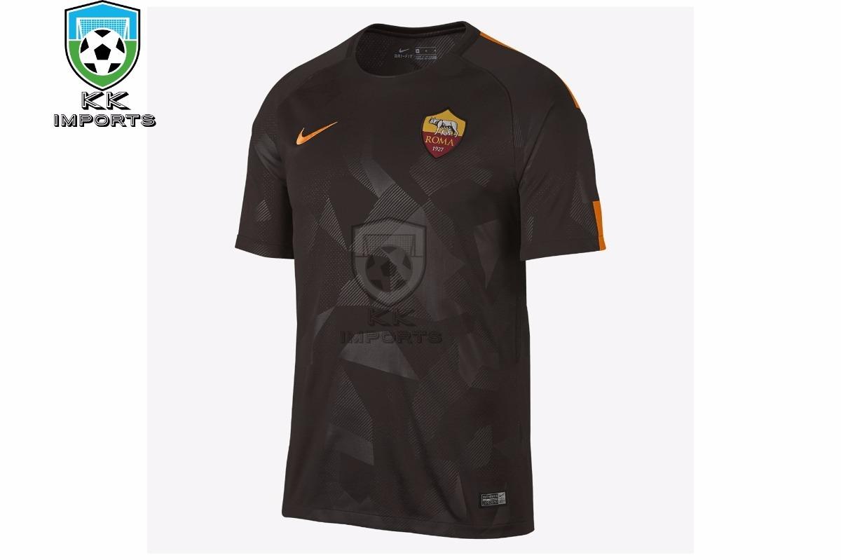 42c8f2fcdfb4a Camisa Roma 2017 2018 Uniforme 3 Sob Encomenda - R  170