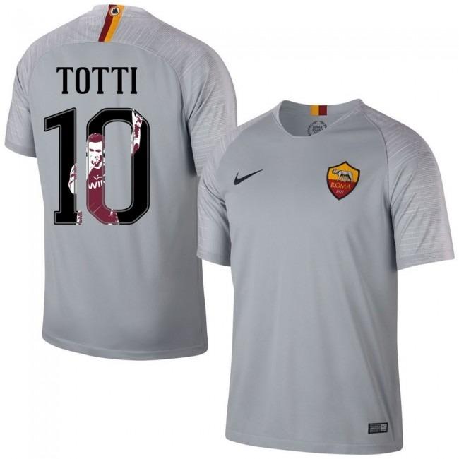 ac50cc61b Camisa Roma Away 18-19 Totti 10 Importada - R  160