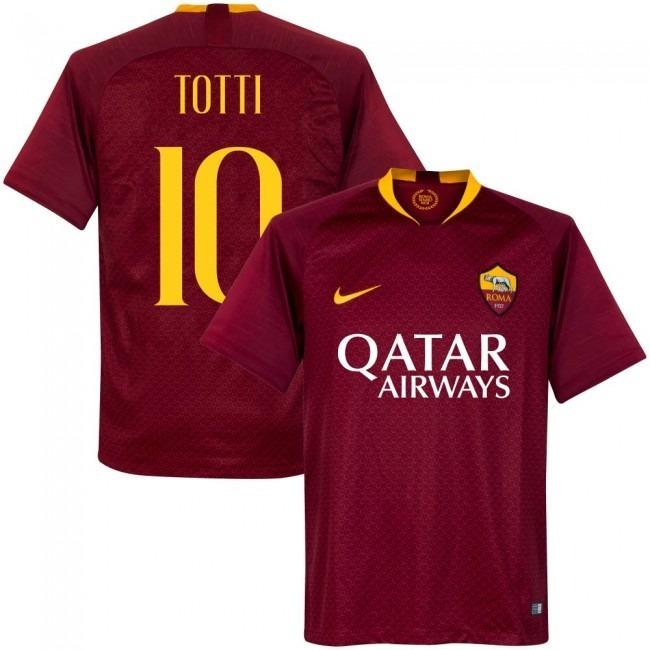 6a224fda4 Camisa Roma Home 18-19 Totti 10 Importada - R  160