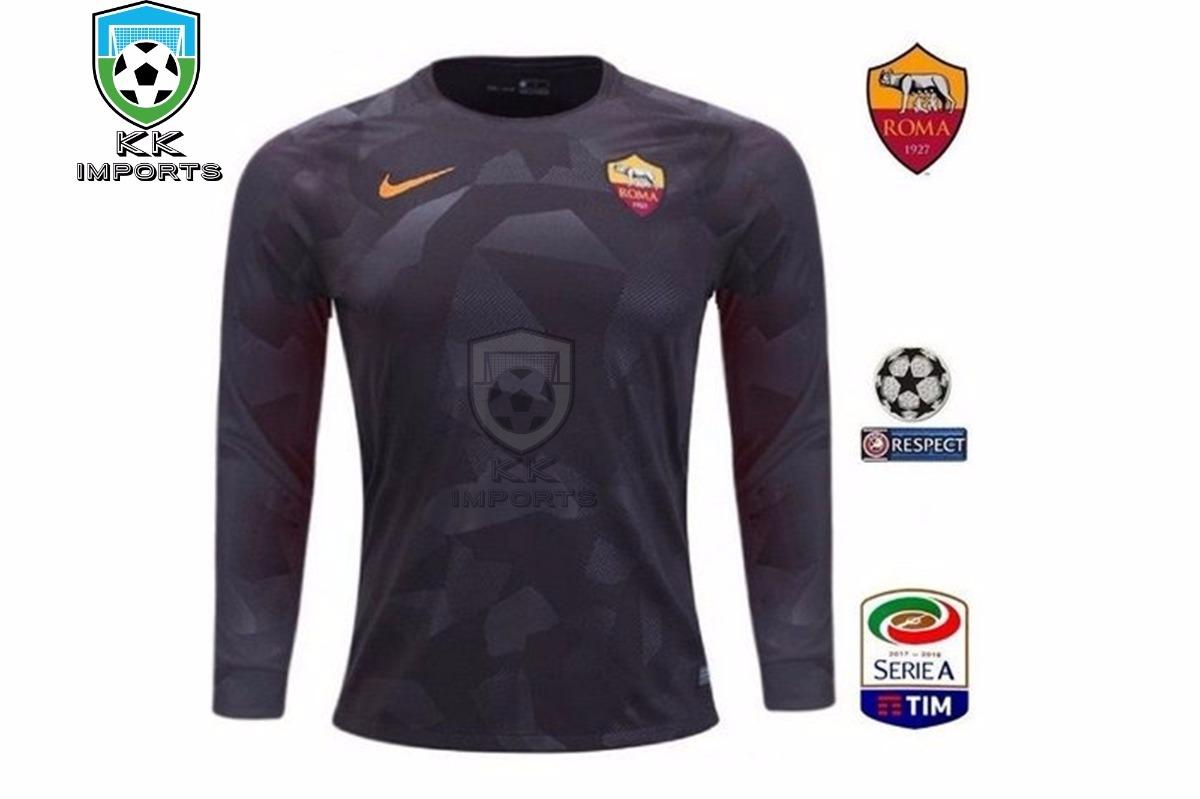 camisa roma manga longa 2017 2018 uniforme 3 sob encomenda. Carregando zoom. d0ea534dba8a7