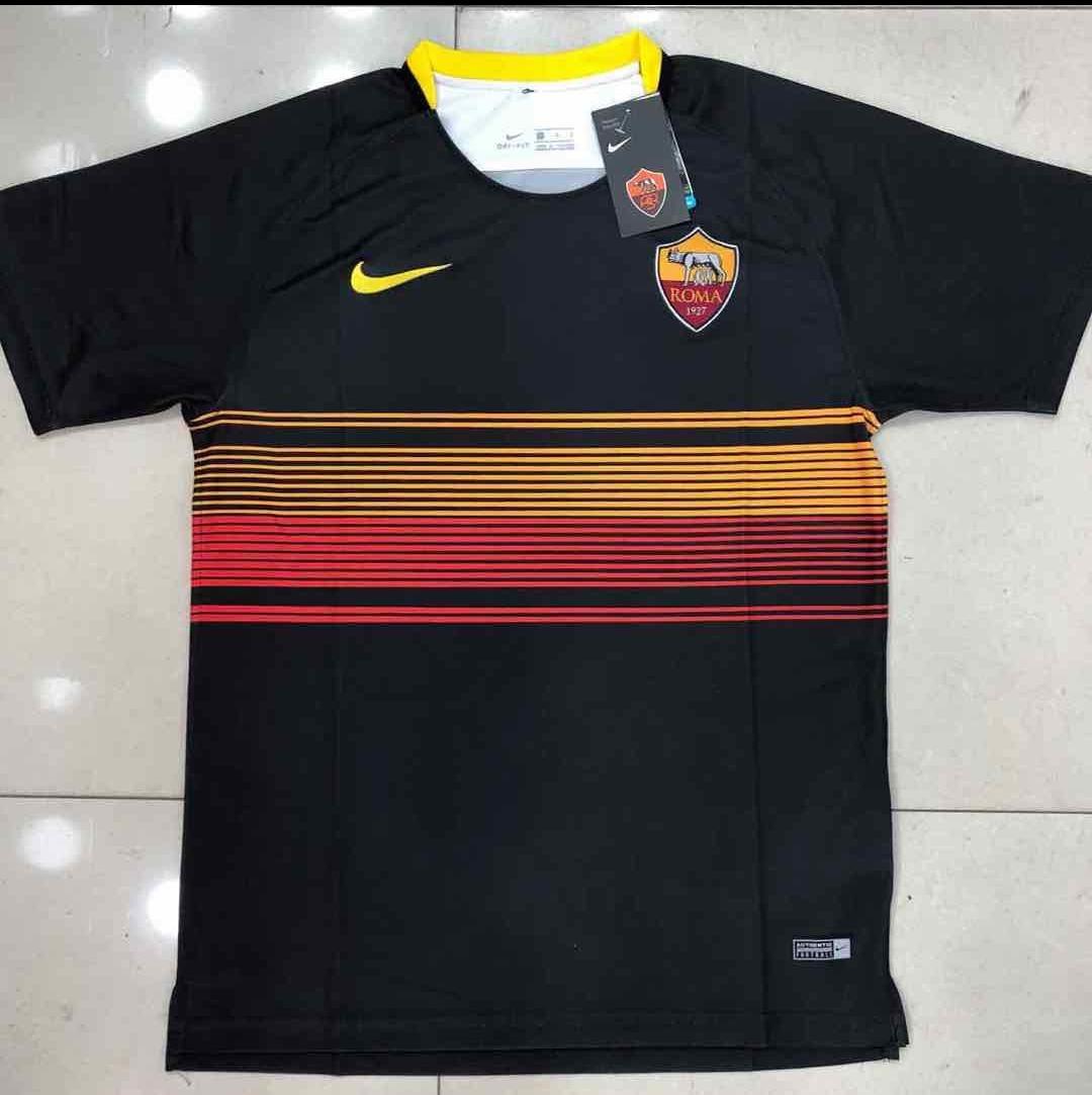 ... Camisa Roma Preta Pre Jogo- 2018 19- Frete Grátis. - R 170 6092292328937