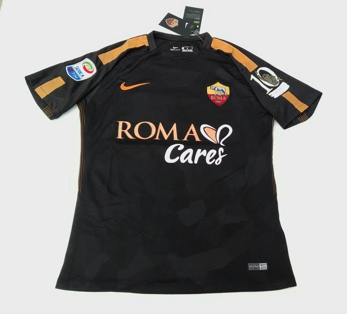 camisa roma third 2017. Carregando zoom. 35e9c40f819c3