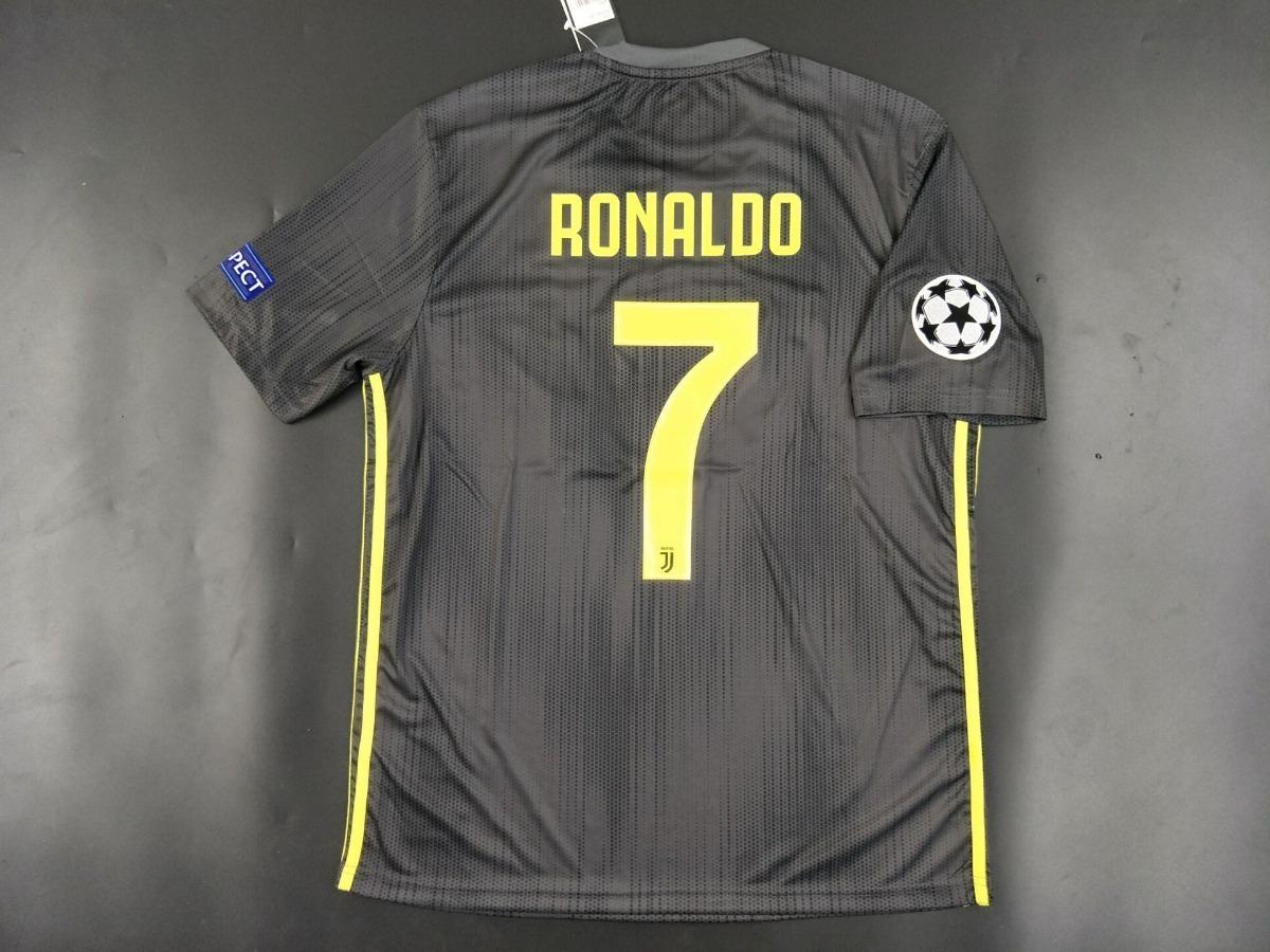 ea0c66fec08b8 camisa ronaldo 7 cr7 juventus 2018-2019 preta - frete gratis. Carregando  zoom.