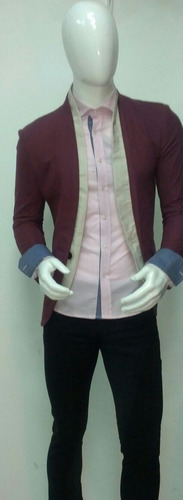 camisa rosa de hombre slim fit rosa palo