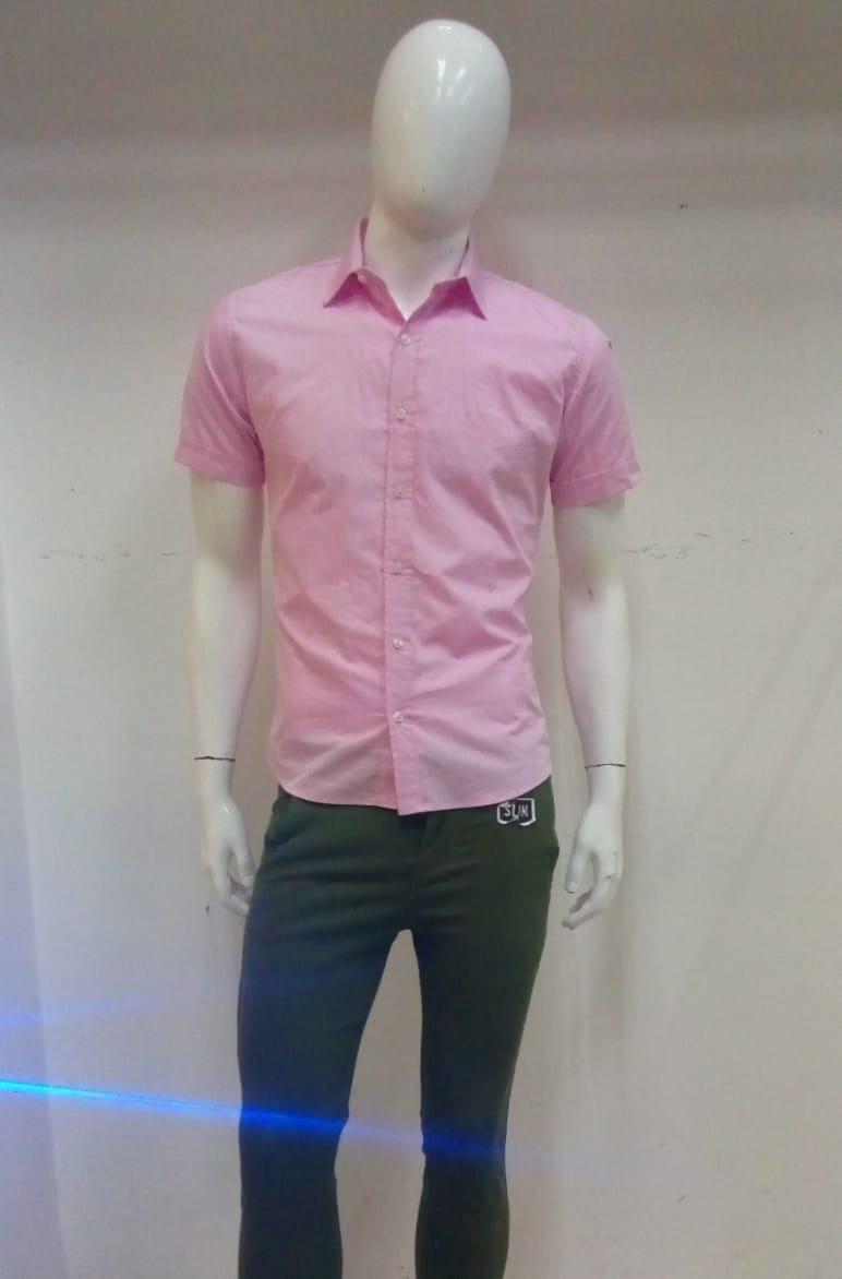 Hombre De Corta Rosa Manga Camisa c5Rj3Lq4A