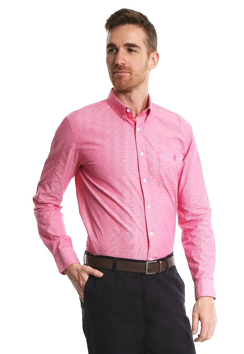 2bcf28c728ab4 Camisa Rosa Manga Larga - Rock Hampton - 842027 - Rosa -   748.00 en ...