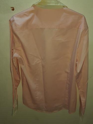 camisa rosa slim fit