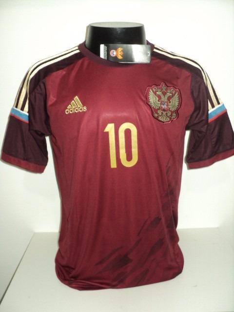 7c24e614ce Camisa Russia Home 14-15 Arshavin 10 Importada - R  180