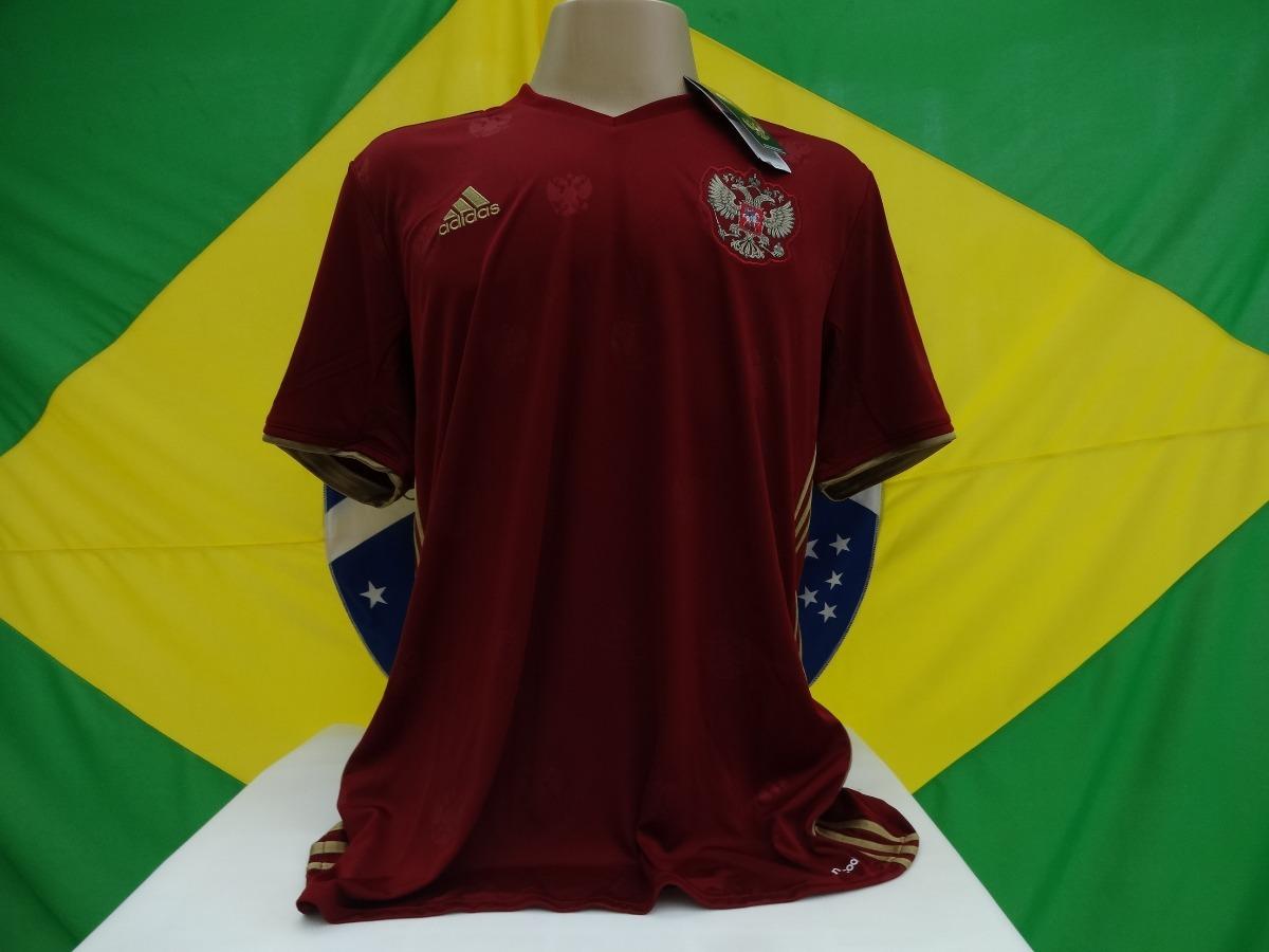 camisa russia oficial adidas temporada 2016 2017. Carregando zoom. 0e90f912d1d42