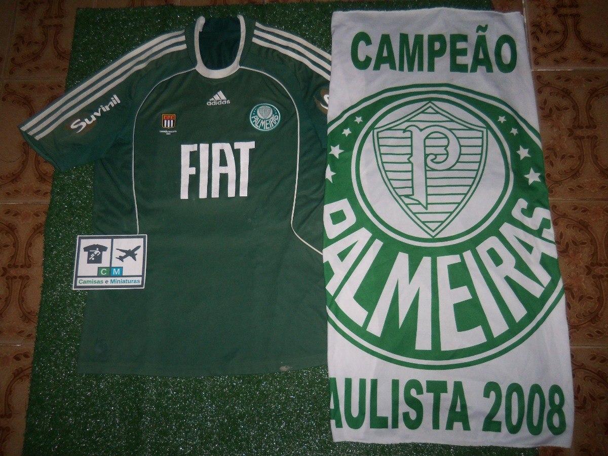 Camisa S. E. Palmeiras 2008 adidas Home  9 + Bandeira 2008 - R  50 ... 05f4b468db79b