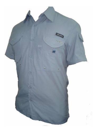 camisa safari trekking secado rapido  manga corta