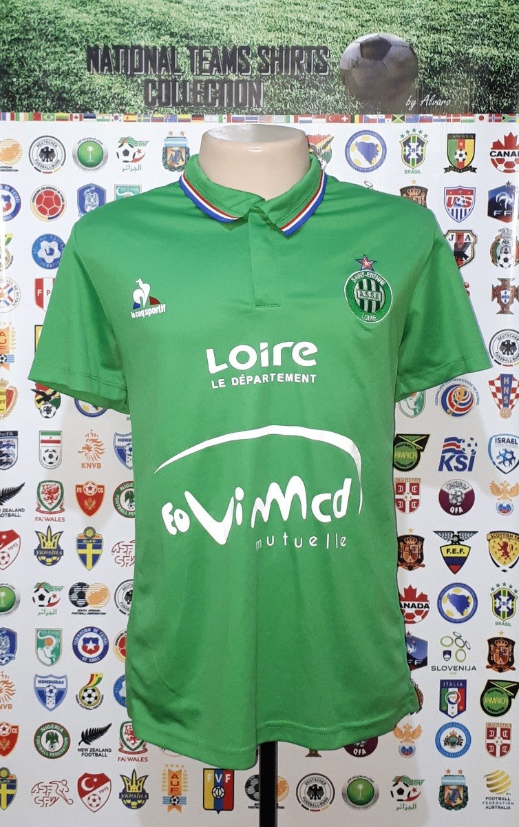 b31a95c42b1eb camisa saint-etienne frança 2016 home le coq sportif tam gg. Carregando  zoom.