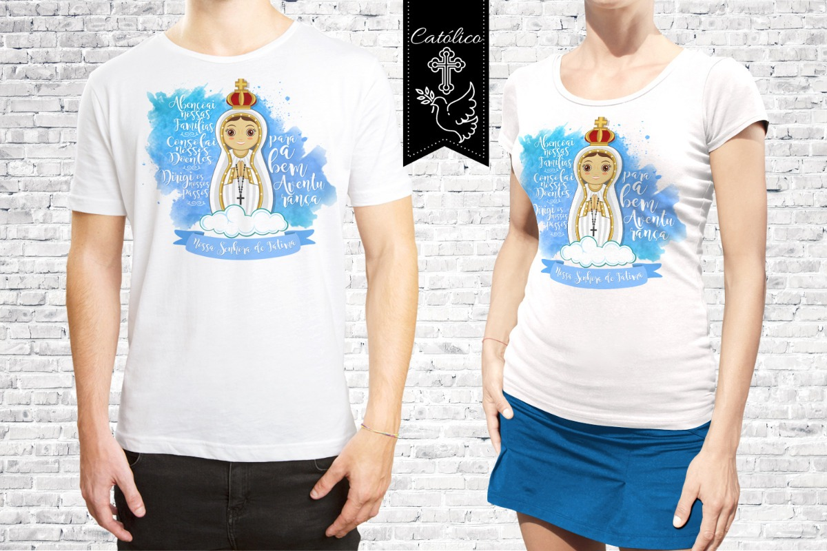 Camisa Santa Nossa Senhora Das Gracas Personalizada R 62 59 Em