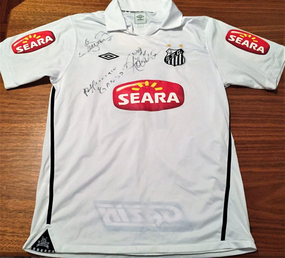 fcdbf044d7 Camisa Santos 2010 De Jogo Assinada Neymar