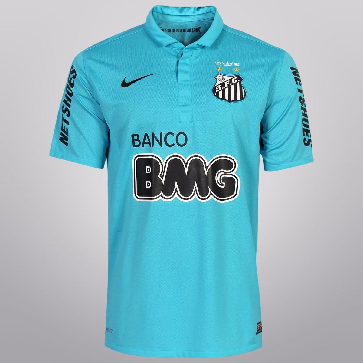 Camisa Santos 2012 - 100 Anos - Azul 100% Original Nike !!! - R  166 ... bbe4f18b1e97e